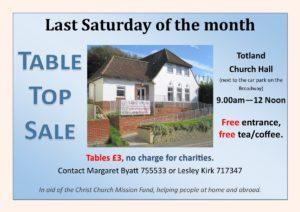 Table Top Sale @ Totland Church Hall
