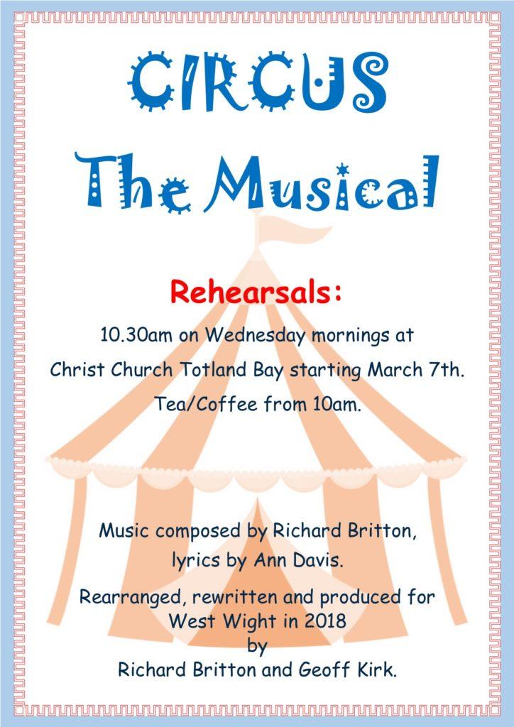 WW Choir rehearsals @ Christ Church Totland Bay