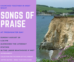 Songs of Praise at Freshwater Bay @ Lifeboat Station, Freshwater Bay