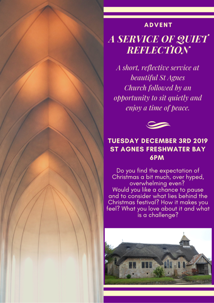 Advent Reflection @ St Agnes Chuch Freshwater Bay