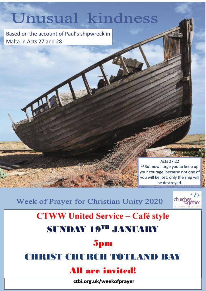 CTWW United Service @ Christ Church Totland Bay